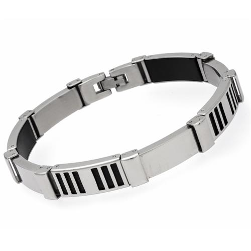 Exklusives Armband Edelstahl matt/poliert 21cm
