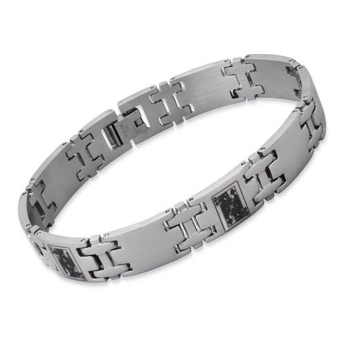Modernes Armband Edelstahl 20,5cm