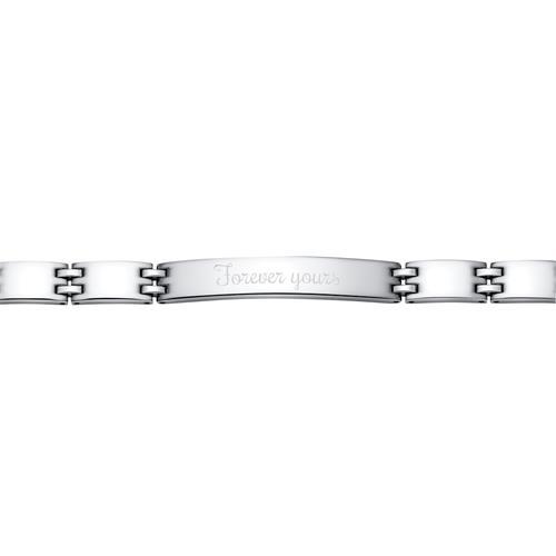 Modernes Armband Edelstahl poliert 21cm