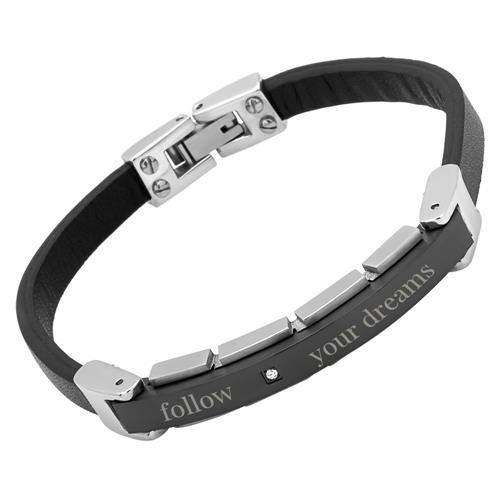 Armband Leder Gravur 21cm