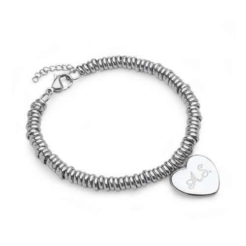 Edelstahl Armband mit Herz-Anhänger