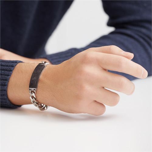 Edelstahl Armband Carbon Element Gravur