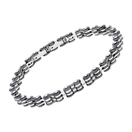 Armband aus Edelstahl in Schwarz und Silber