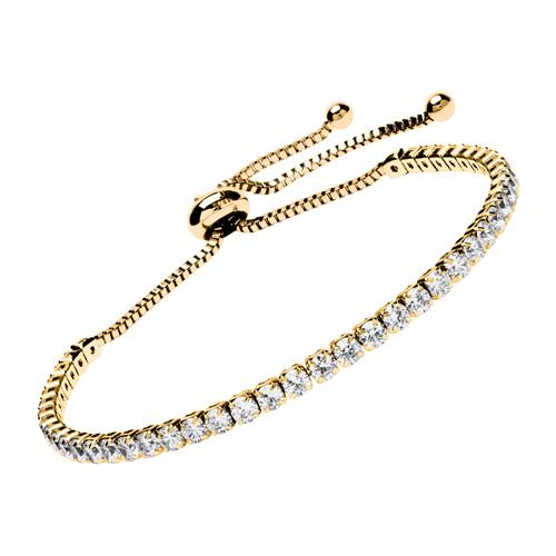 Armbaender - Armband Edelstahl IP Gold Zirkonia  - Onlineshop The Jeweller