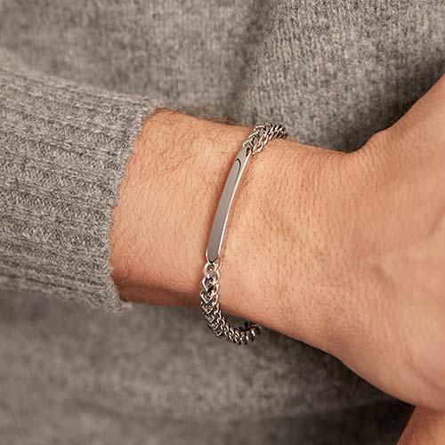 Gravierbares Armband aus Edelstahl