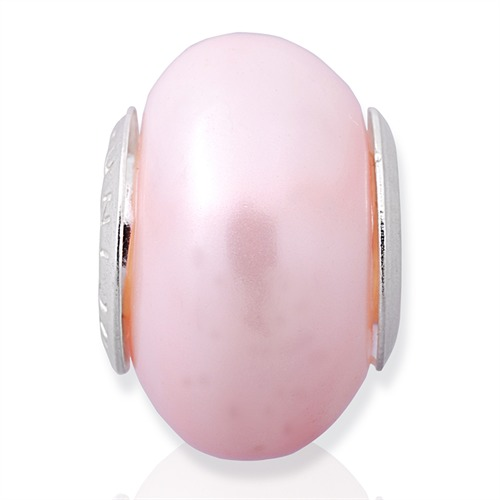 Echter Perlen Bead mit 925 Silber Fassung