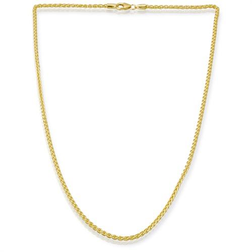 585er Goldkette: Zopfkette Gold 45cm