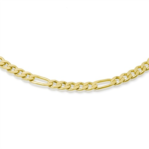 585er Goldkette: Figarokette Gold 45cm