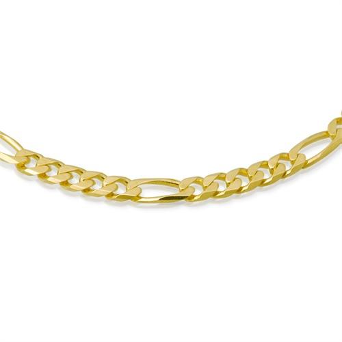 333er Goldkette: Figarokette Gold 55cm