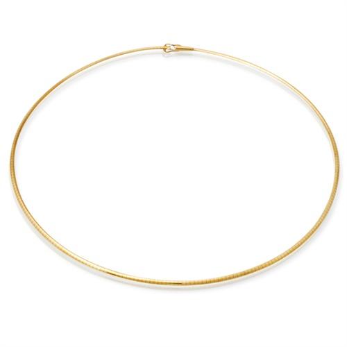 585er Goldkette: Omegakette Gold 45cm