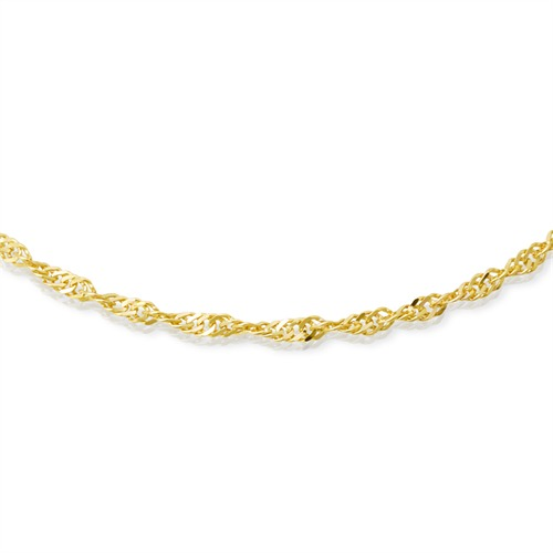 585er Goldkette: Singapurkette Gold 45cm