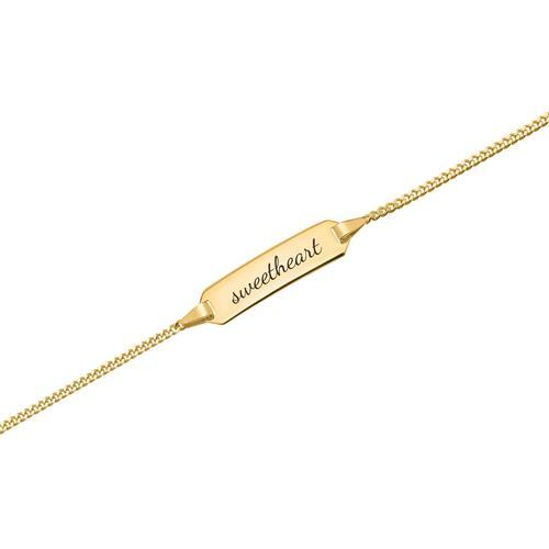 333er Goldarmband: ID-Armband Gold 14cm