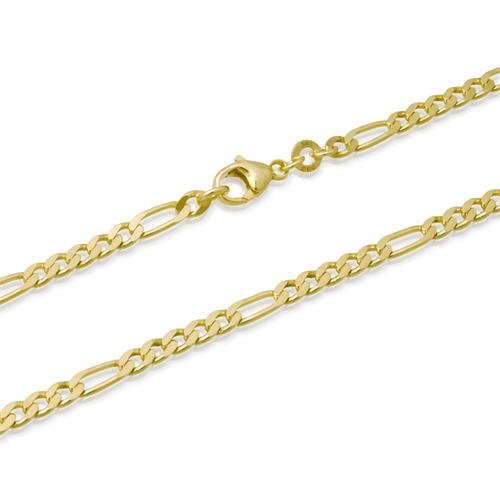 585er Goldarmband: Figaroarmband Gold 21cm