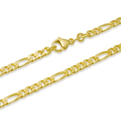 585er Goldarmband: Figaroarmband Gold 18,7cm
