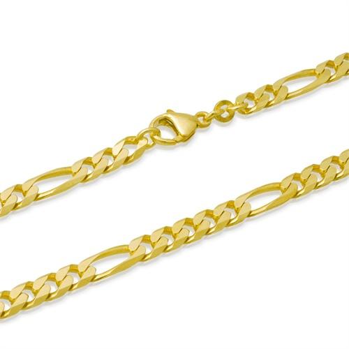 333er Goldarmband: Figaroarmband Gold 21cm