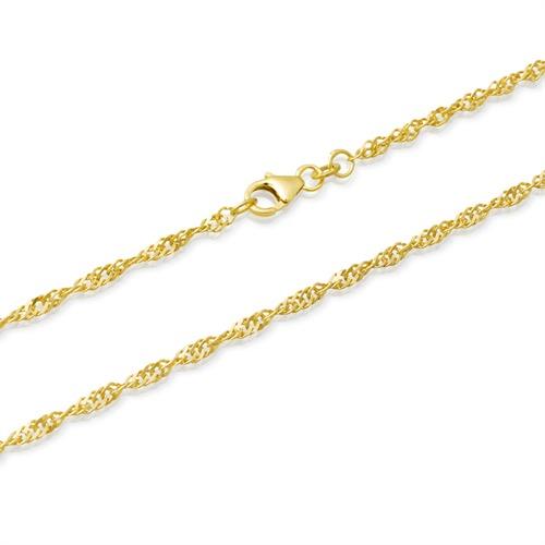 585er Goldarmband: Singapurarmband Gold 18,5cm