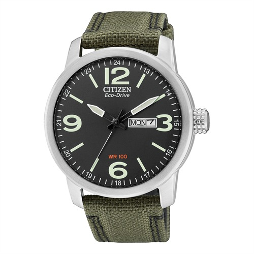 Citizen Herrenuhr Sports Textil grün BM8470-11EE