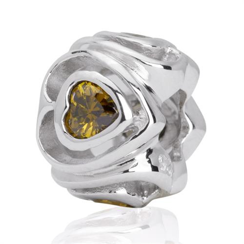 Hochwertiger 925 Silber Bead gewindelos BO0090