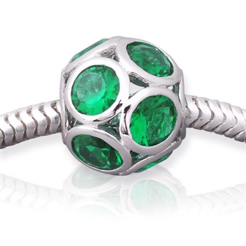 Moderner gewindeloser 925 Silber Bead