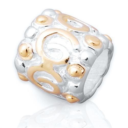 925 Silber Bead zum Sammeln und Kombinieren BO0199