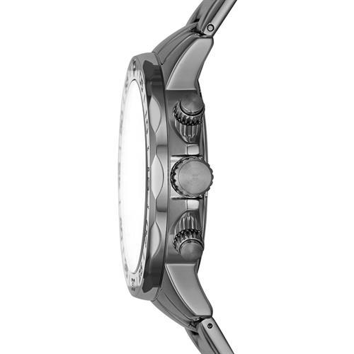 Multifunktionsuhr für Herren aus Edelstahl, grau