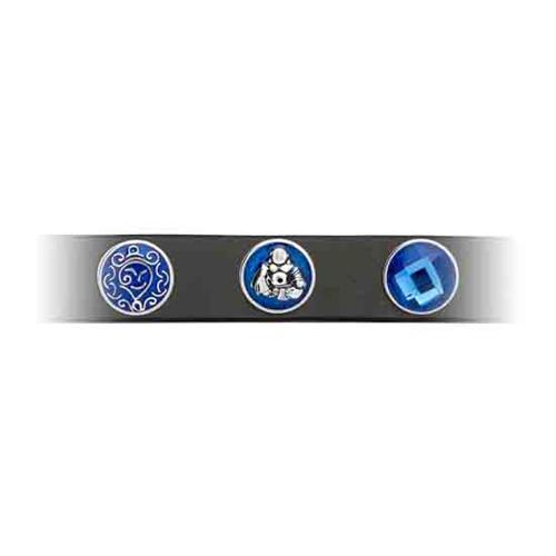 Button blaue Emaille Buddha