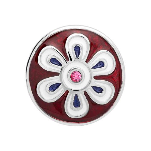 Button bunte Emaille rosa Stein