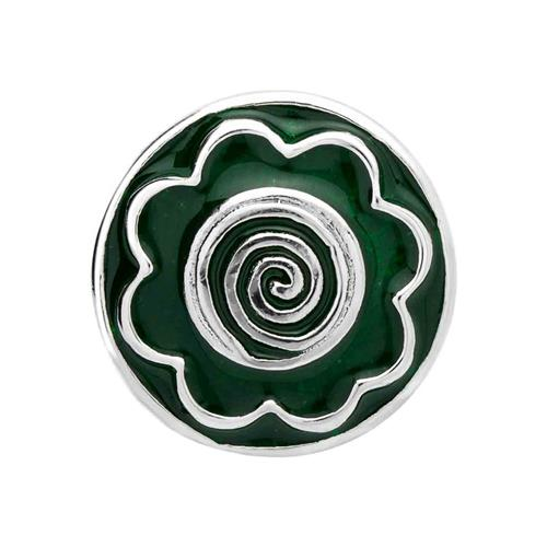 Button grüne Emaille Spirale BT0057