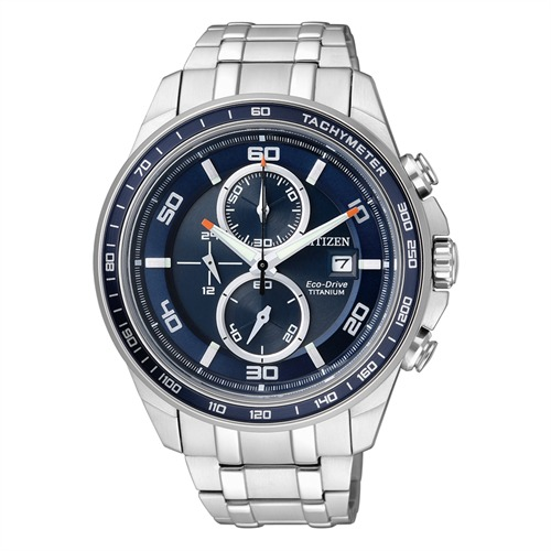 Citizen Super Titanium Chronograph silber CA0345-51L