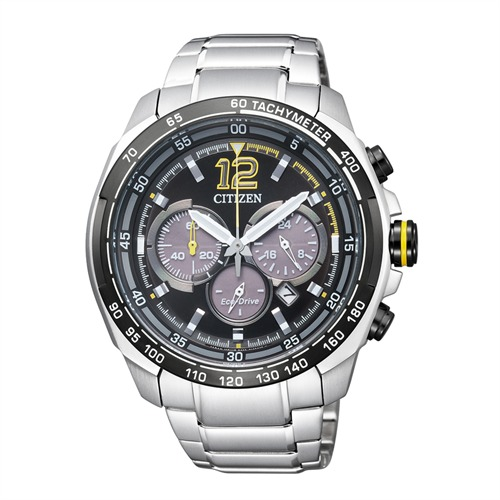 Citizen Sports Chronograph silber Eco-Drive CA4234-51E