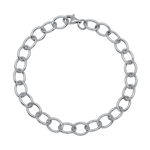925 Silber Bettelarmband für Charms 21cm