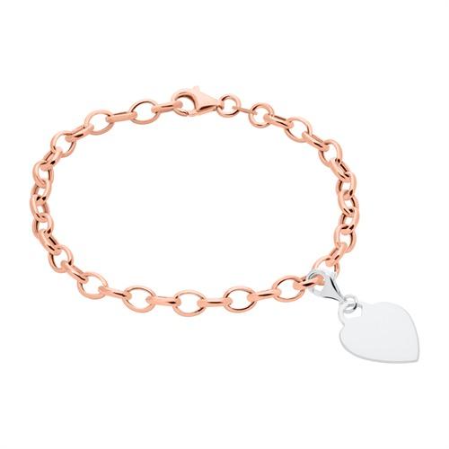 Armband für Charms aus Sterlingsilber rosévergoldet