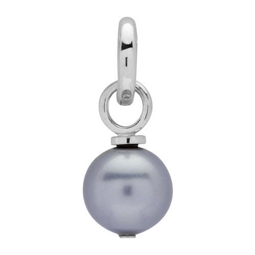 925 Silber Clipcharm mit Glasperle