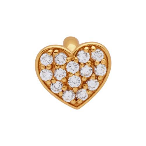Vergoldeter 925 Silber Clip Charm mit Zirkonia CC0084