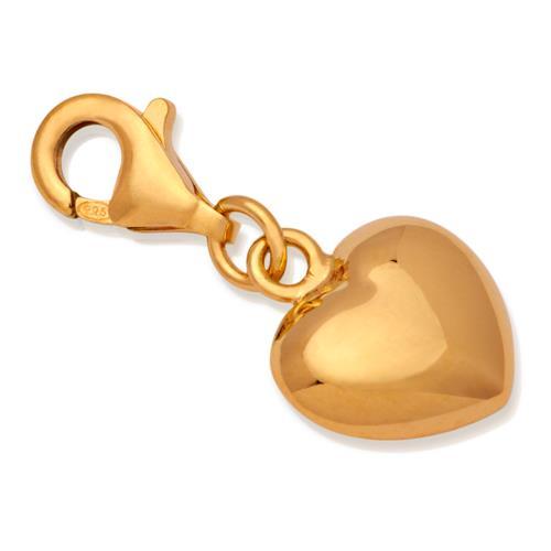 Silber Herz Charm für Bettelarmbänder