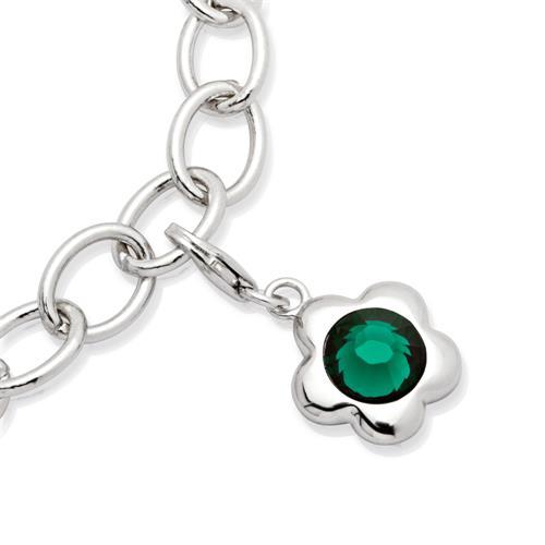 Silber Monatscharm Mai für Bettelarmbänder