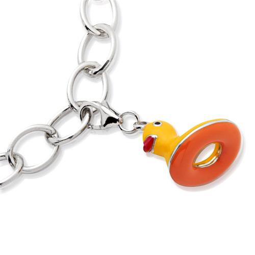 Exklusiver 925 Silber Charm Ente zum Einhängen