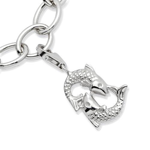 925 Silber Sternzeichen Charm Fische