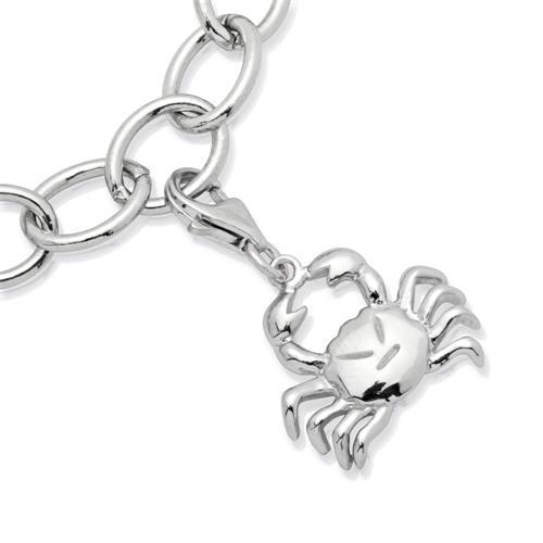 925 Silber Sternzeichen Charm Krebs