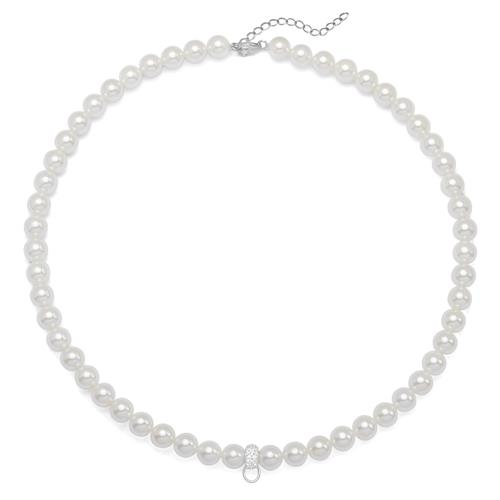 Moderne Kette Perlen Weiß