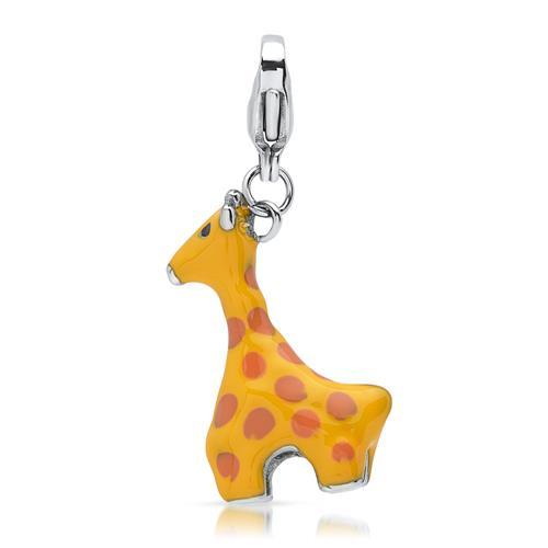 Hochwertiger Anhänger aus Edelstahl Giraffe