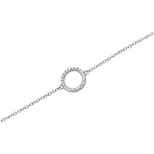 Armband 750er Weißgold 22 Diamanten 0,07 ct.