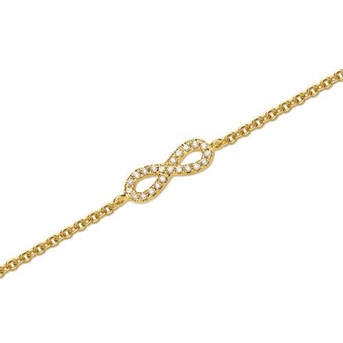 Armkette 750er Gelbgold 22 Diamanten 0,05 ct.