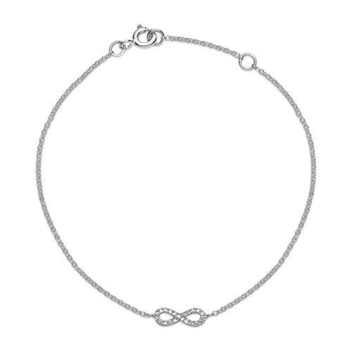 Armbaender für Frauen - Armkette 750er Weißgold 22 Diamanten 0,05 ct.  - Onlineshop The Jeweller