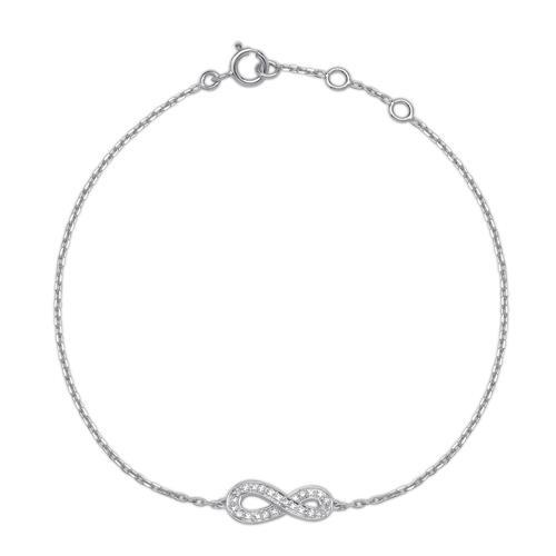 Armbaender für Frauen - Armband 585er Weißgold 8 Diamanten 0,024 ct.  - Onlineshop The Jeweller