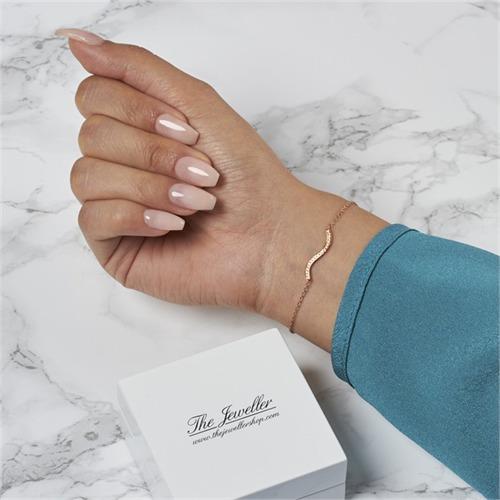 Armband 750er Roségold 20 Diamanten 0,08 ct.