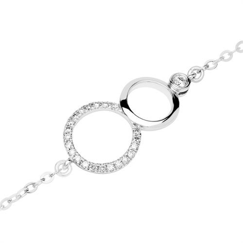Armband Kreis-Design 18K Weißgold Diamanten