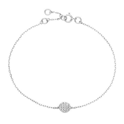 Armbaender für Frauen - Armband aus 585er Weißgold mit Diamanten  - Onlineshop The Jeweller