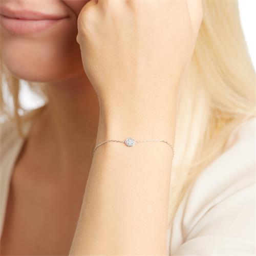 Armband aus 585er Weißgold mit Diamanten