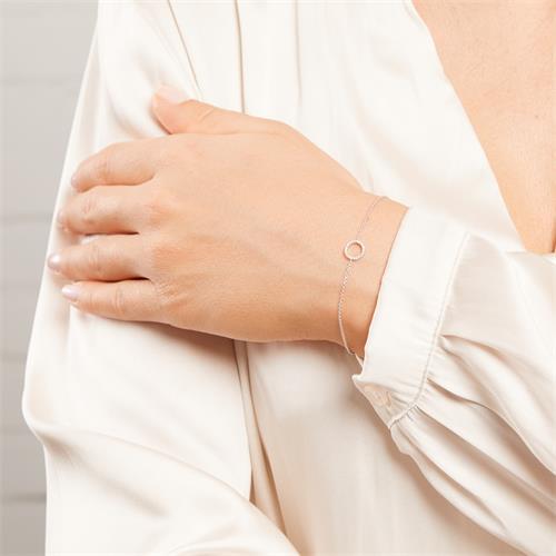 Kreisarmband für Damen aus 14K Weißgold mit Brillanten